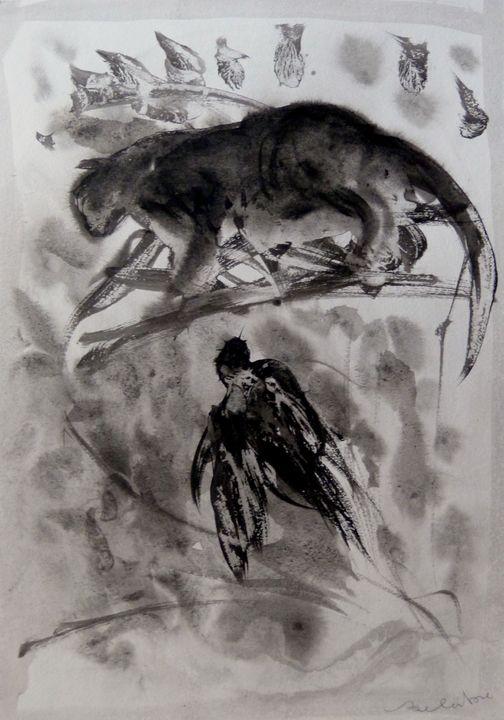 Cat and Bird 20-3 - Frederic Belaubre