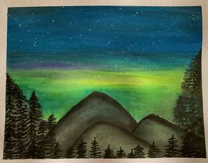 Northern lights in the rockies