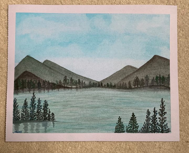 A lake in The Canadian Rockies - Art by Ashleen