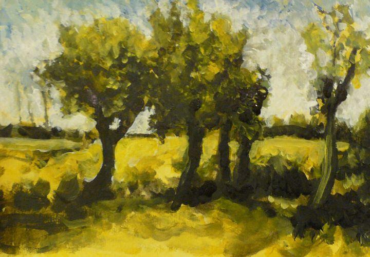 After Van Gogh's Trees - DJR GALLERY