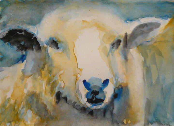 A Watercolour Sheep - DJR GALLERY