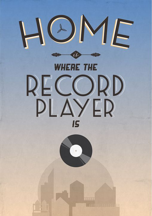 Home Is Where The Record Player Is - Dick Smith Designs
