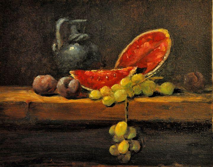 "Watermelon, plums, & grapes - Kim ""Kwaz"" McKerracher"