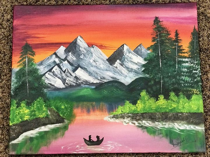 Mountains with the dream river - Engel Art