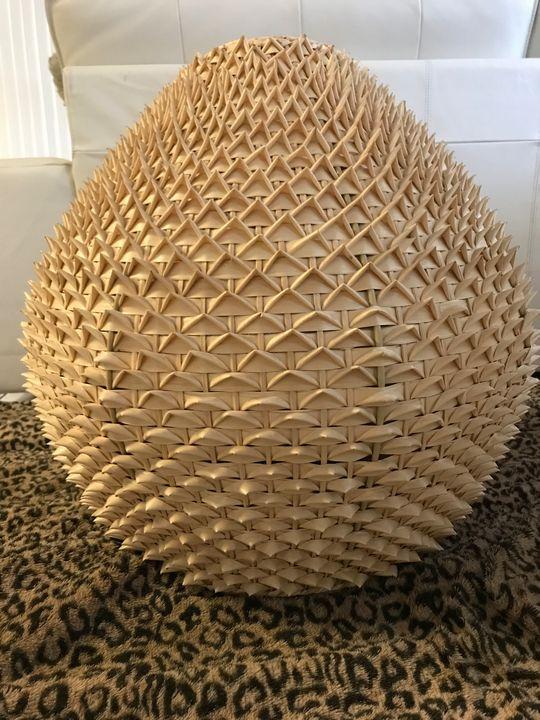Origami Palm Leaf Pendant Lamp - The Boheme Bungalow