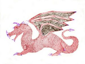 Red Dragon Left Facing