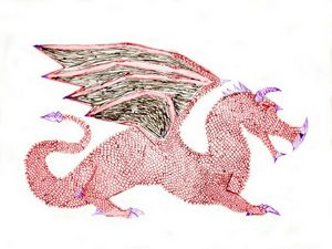 Red Dragon right facing