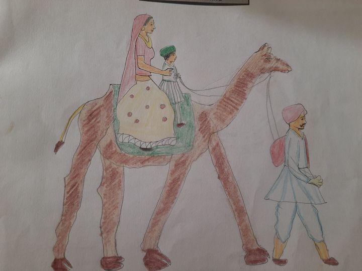 Desert drawing - Kousalya Sankar