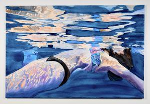 watercolor swimmer