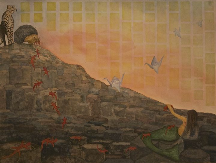 Giant's Causeway Overrun By Hunters - Sonja Johanson
