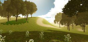 Walk on a Grassy Hill