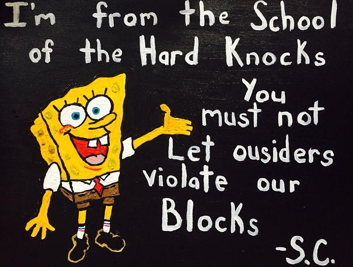 Sponge Bob/Jay-Z - Jon Hoff Art