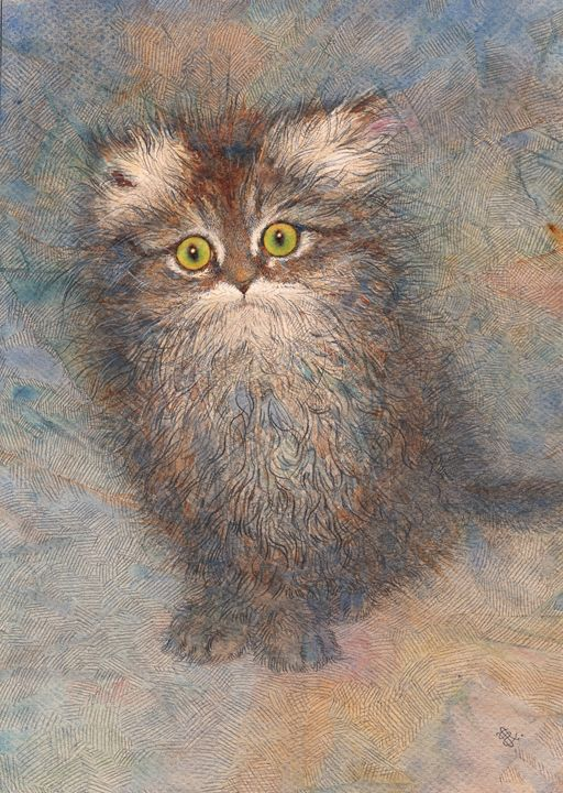 "Kitty ""Busya"" - Irshi watercolors"