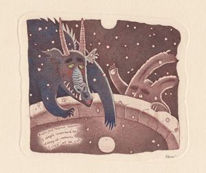 The year of dragon postcard