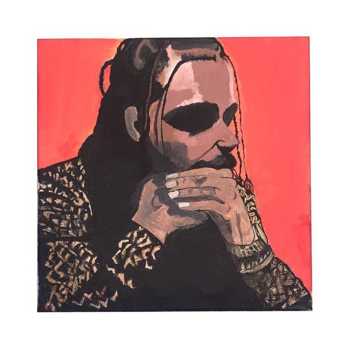 "Post Malone ""Stoney"" 12""x12"" - Double J Studio"