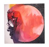 """Man on the Moon 12""""x12"""" Painting"""