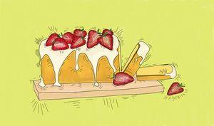Strawberries and Cream pound cake