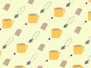 Tea Collage Peach