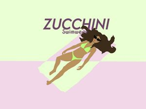 Zucchini Bikini poster print