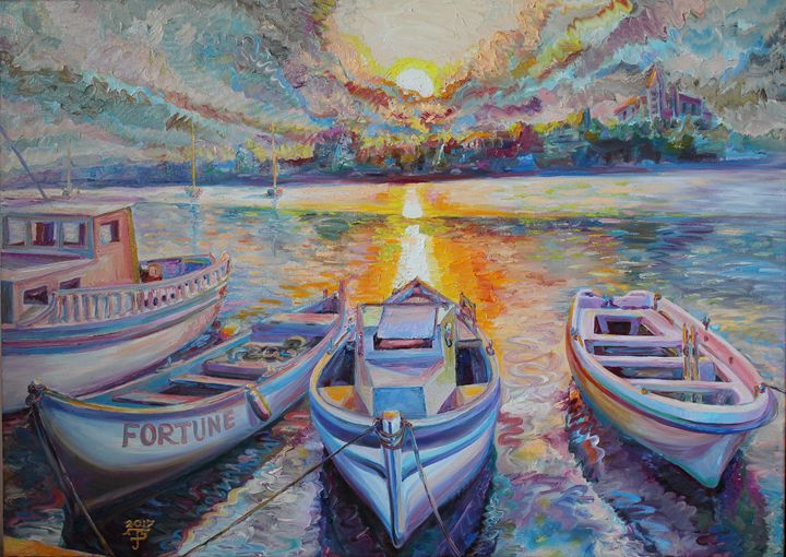 """Evening on the berth"" - Halyna Luzhevska (Gairai)"