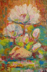 """ Water lilies "" - Halyna Luzhevska (Gairai)"