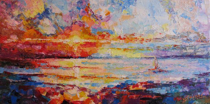 """ Sunset "" - Halyna Luzhevska (Gairai)"
