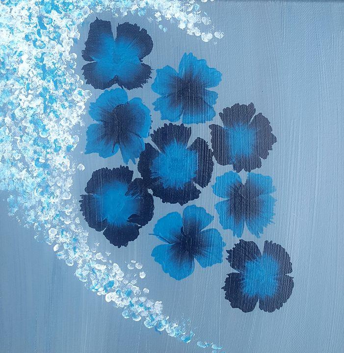 Blue flowers - T. Smith, Artist