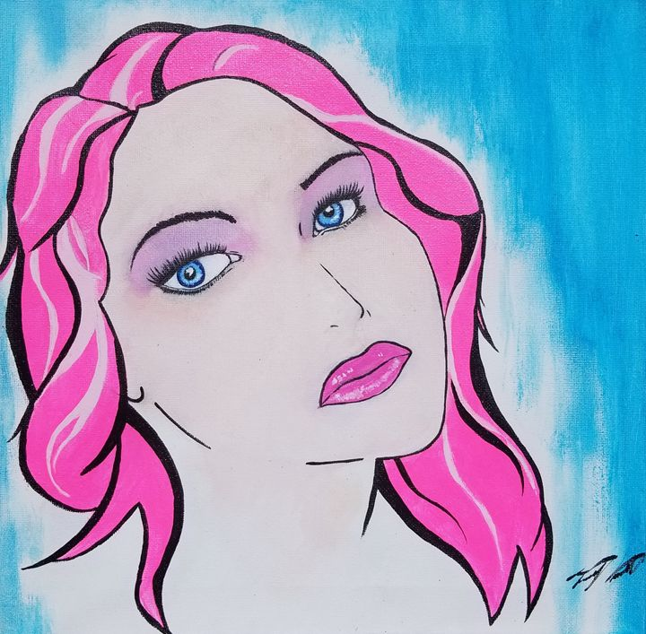 Girl with pink hair - T. Smith, Artist