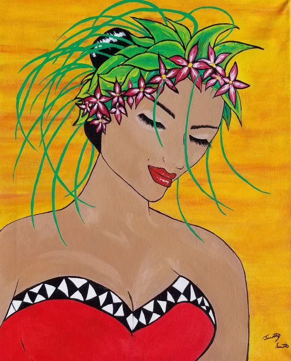 Polynesian bride - T. Smith, Artist