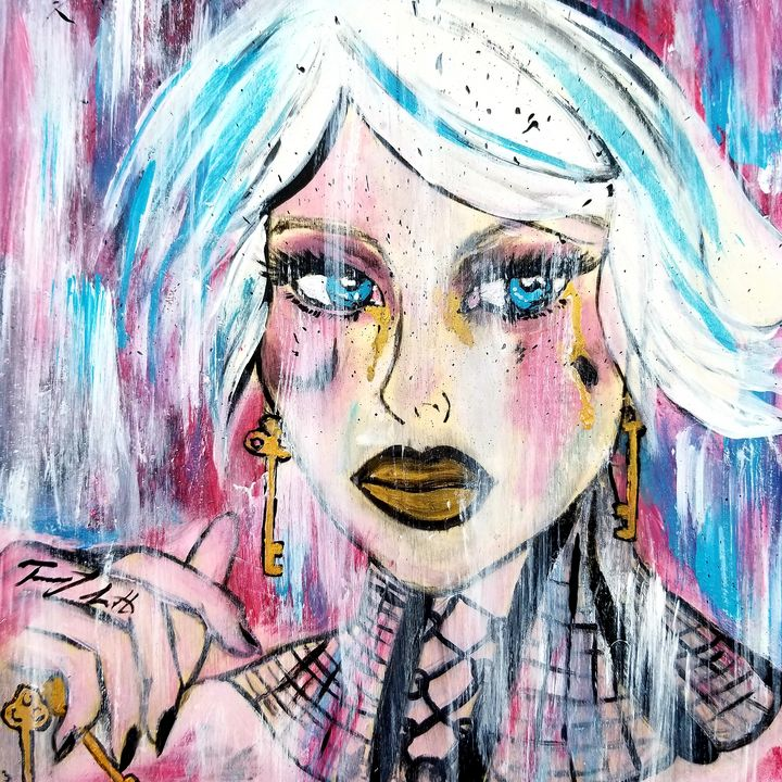Girl with Keys - T. Smith, Artist
