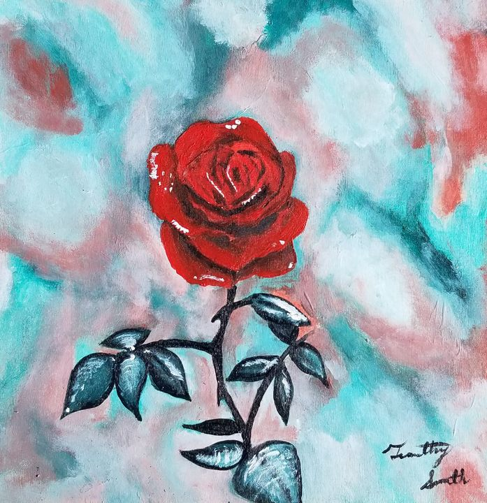 Red rose - T. Smith, Artist