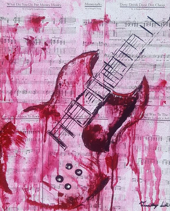 The red guitar - T. Smith, Artist
