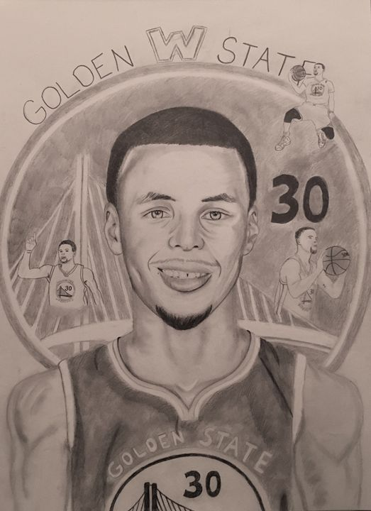 Stephen Curry Golden State Warriors - BrookieJ Creations - Drawings ... e3a227982