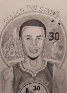 Stephen Curry Golden State Warriors Brookiej Creations