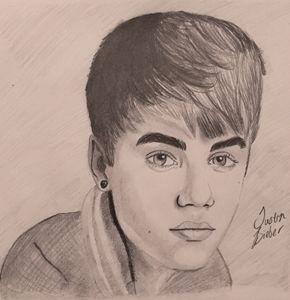 Justin Bieber Portrait - BrookieJ Creations