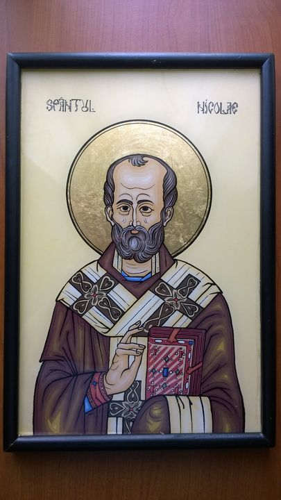 Saint Nicholas - Paintings of Byzantine icons on glass - Eugen