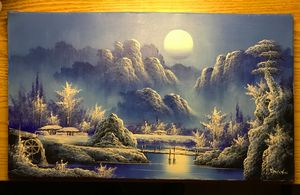 Japanese winter landscape painting