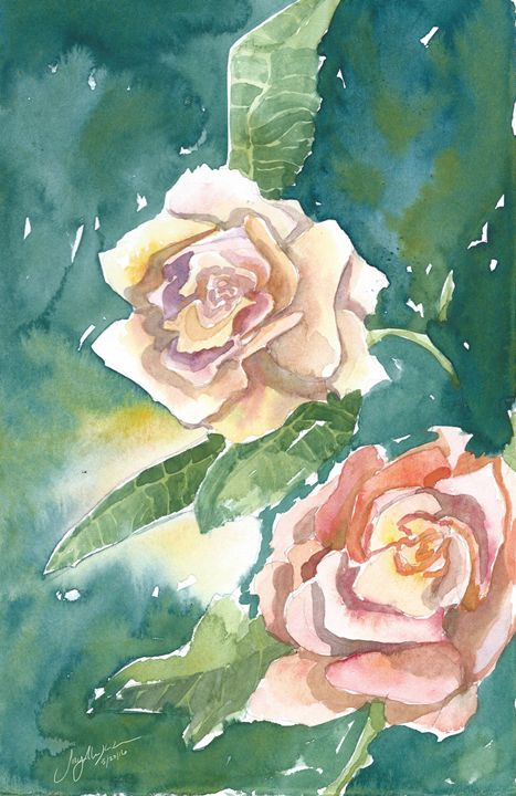 Peach Colored Roses - Suzys Art