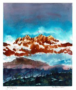 Four Peaks at Sundown