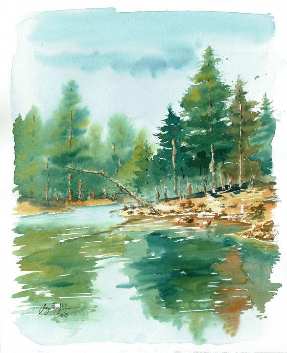 Bear Canyon Lake - Suzys Art
