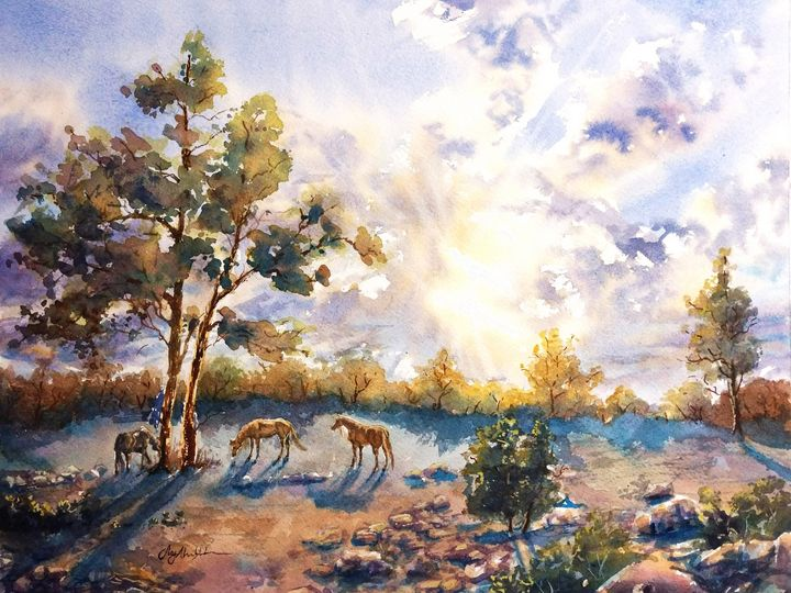 Quarterhorse Till Sundown - Suzys Art