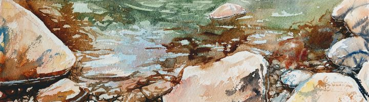 Water and Rock study - Suzys Art