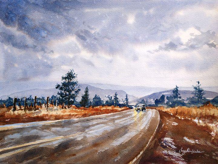 Rainy Drive Home - Suzys Art
