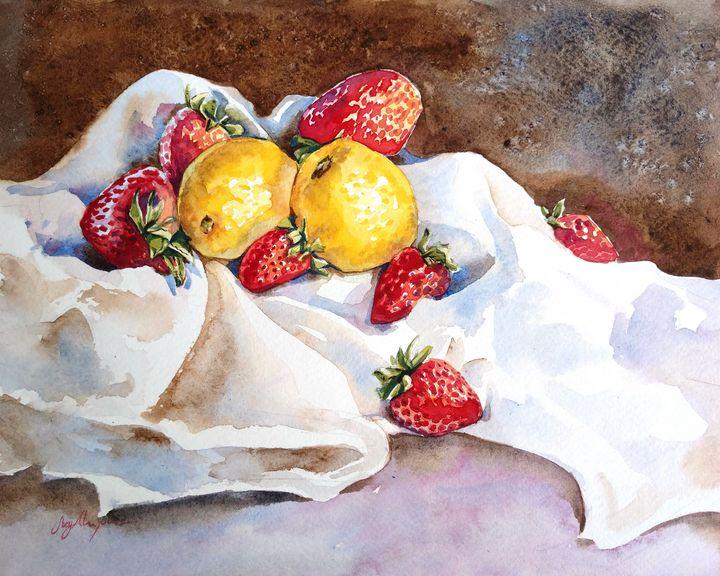 Lemons and Strawberries - Suzys Art