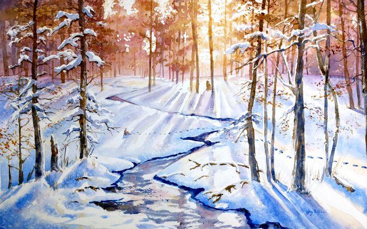 Snow Tracks - Suzys Art