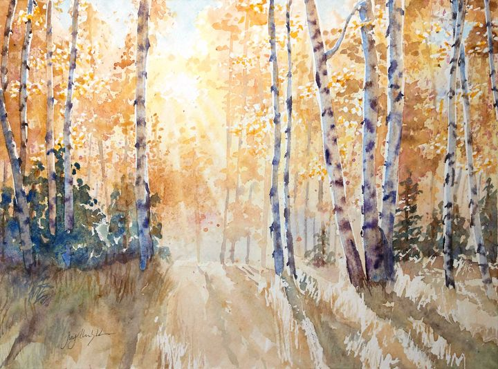 Golden Aspens - Suzys Art
