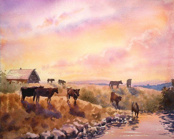 Cattle Ranch - Suzys Art