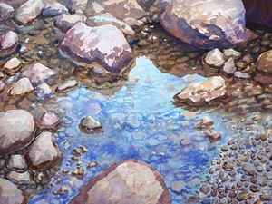 River Stones and Reflections