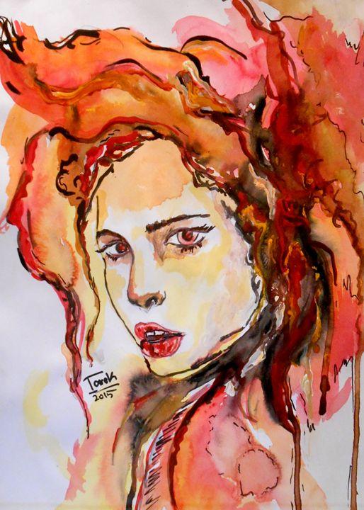 Girl Face - Tarek El Adley Art