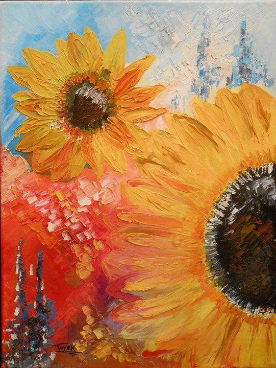 SUN Flower - Tarek El Adley Art